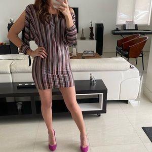 NWT Karina Grimaldi Multi Color Stripe Mini Dress
